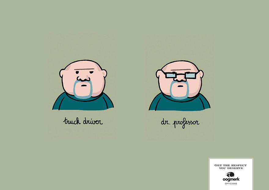 реклама на очила с диоптър